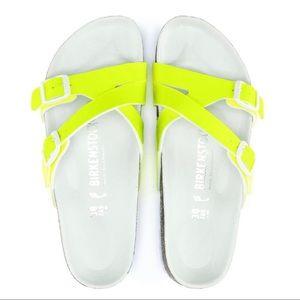New Birkenstock Yao Balance Birko-Flor Neon Sandal